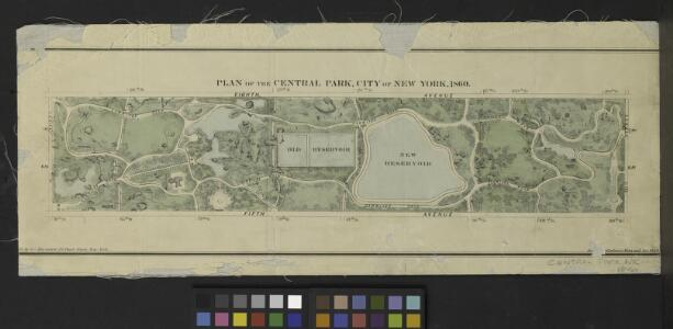 Plan of The Central Park, City of New York, 1860