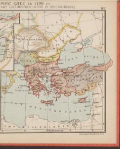 L'Empire Grec en 1190 et l'Hellenisme pendant l'occupation latine de Constantinople [Hauptkarte]