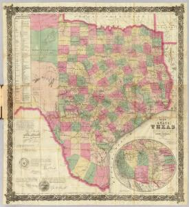 J. De Cordova's Map Of The State Of Texas.