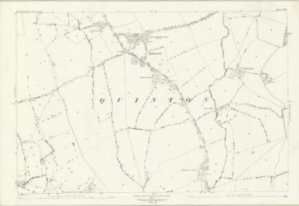 Northamptonshire LII.10 (includes: Courteenhall; Hackleton; Quinton) - 25 Inch Map