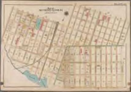 Plate 42: [Bounded by Riverdale Avenue, Hinsdale Street, Dumont Avenue, Vansiclen Avenue, Stanley Avenue, Louisiana Avenue, Warehouse Street, Williams Avenue, Vienna Avenue, Thatford Street, Hegeman Street & Rockaway Avenue.]; Atlas of the borough of Brooklyn, city of New York: from actual surveys and official plans by George W. and Walter S. Bromley.