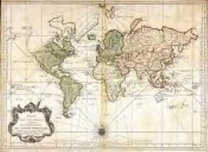 Essay d'une carte réduite contenant les parties connuees du globe terrestre