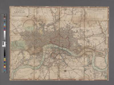 Laurie and Whittle's New map of London with its environs, &c. Including the Recent Improvements.