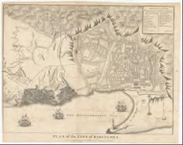 Plan of the city of Barcelona for Mr. Tindal's continuation of Mr. Rapin's History of England ; J. Basire sculp.