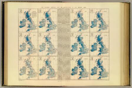 Rainfall, temperature, British Isles.