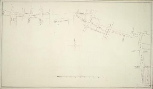 Drawn Plan of a new Street from Piccadilly to King Street, Covent Garden