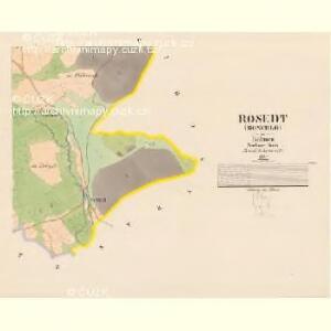 Rosedt (Rosedlo) - c6586-1-003 - Kaiserpflichtexemplar der Landkarten des stabilen Katasters