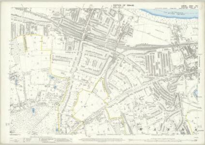 London (Edition of 1894-96) CXIII (includes: Wandsworth Borough) - 25 Inch Map