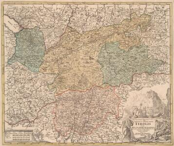Comitatus Principalis Tirolis in quo Episc. Tridentinus et Brixensis, Comitatus Brigantinus, Feldkirchiae Sonnebergae et Pludentii accurate exhibentur