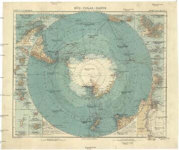 Süd-Polar-Karte