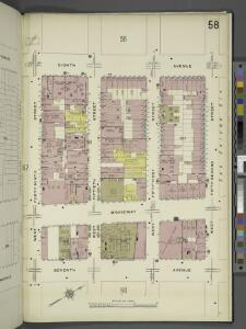 Manhattan, V. 5, Plate No. 58 [Map bounded by 8th Ave., West 52nd St., 7th Ave., West 49th St.]