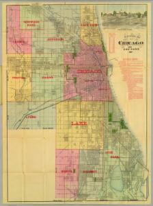 Blanchard's map of Chicago and environs.