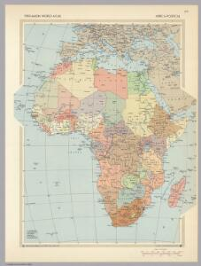 Africa - Political.  Pergamon World Atlas.