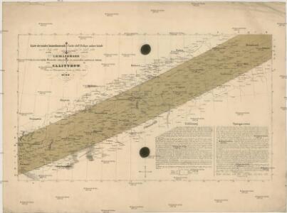 Karte der totalen Sonnenfinsterniss am 8. July 1842