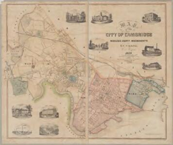 Map of the city of Cambridge, Middlesex County, Massachusetts