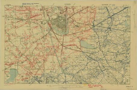 Trench Maps of the Battle Front in France and Belgium,  Ypres