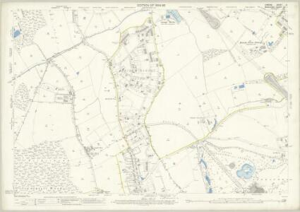 London (Edition of 1894-96) VI (includes: Finchley; Friern Barnet; Hornsey St Mary; Wood Green) - 25 Inch Map