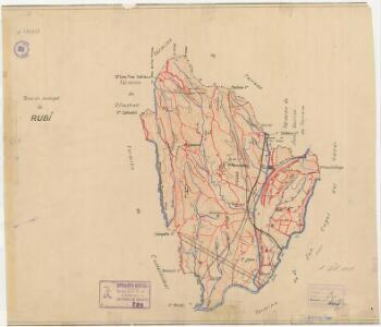 Mapa planimètric de Rubí