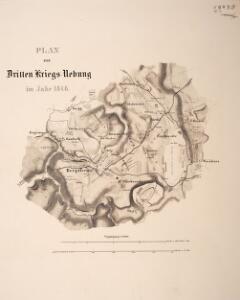 Plan zur dritten Kriegs-Uebung im Jahr 1846