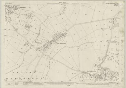 Northamptonshire XXXII.14 (includes: Great Harrowden; Isham; Little Harrowden; Orlingbury) - 25 Inch Map