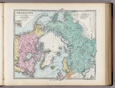 Polar-Karte enthaltend: die Lander u. Meere vom Nord-Pol bis 50 degrees N.