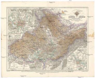 Handkarte der Markgrafschaft Mähren und des Herzogthumes Schlesien