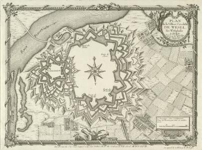 Plan de la Ville et Citadelle de Wesel En Westphalie