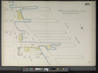 Manhattan, V. 4, Double Page Plate No. 67 1/2  [Map bounded by East River, E. 22nd St., Avenue A]