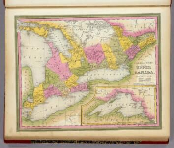 Canada West Formerly Upper Canada.