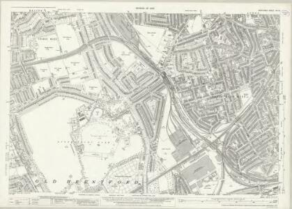 Middlesex XVI.13 (includes: Acton; Chiswick St Nicholas; Ealing St Mary; Old Brentford) - 25 Inch Map