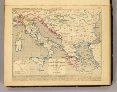 L'Empire Ottoman, la Grece et l'Italie de 1500 a 1700.