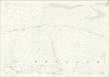 Devon XVI.9 (includes: Molland) - 25 Inch Map