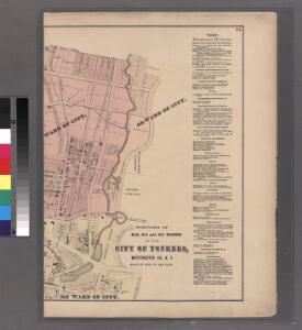 Plates 28 & 29: Portions of 2nd, 3rd and 4th Wards of the City of Yonkers, Westchester Co. N.Y.