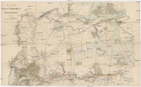 Plan des Cavallerie Manövrir-Rayons bei Parndorf im Jahre 1857