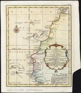 Karte von der westlichen kuste von Africa : von der strasse bey Gibraltar bis zu dem XI grade norderbreite ...wahrnehmungen entworfen