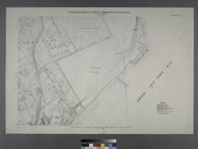 Sheet No. 42. [Includes South Beach and Lower New York Bay, McFarland Avenue, Cedar Avenue and Jackson Avenue in Arrochar.]; Borough of Richmond, Topographical Survey.