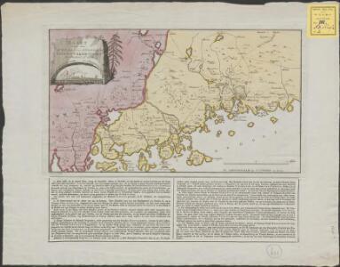 Kaart van de Zweedse en Russische krygs-verrigtingen in Finland A° 1788