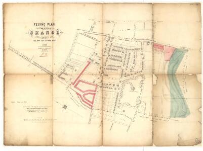 Feuing plan of the lands of Grange.