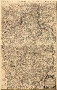 Carte des Pais qui sont situez éntre la Moselle, la Saare, le Rhein, et la Basse Alsace