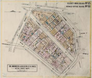 Elliott Bros'. Block No.115; Herald Office Block No.118, 15.9.22 (col) (updated)