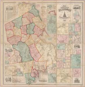 Map of the county of Plymouth, Massachusetts : from actual surveys