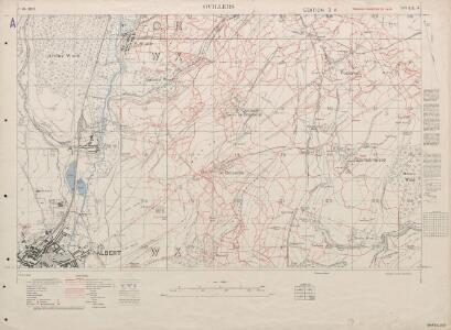 trench maps of the battle front in france and belgium ovillers