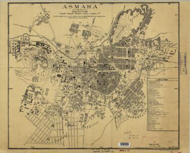 Asmara [Town plan] (1938)