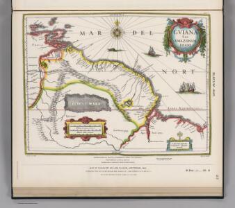 Facsimile:  Guiana by Blaeuw.