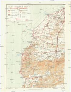 Carte touristique du Maroc