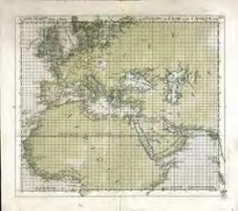 Carte mar.ne d'une partie de l'Europe, de l'Asie et de l'Afrique