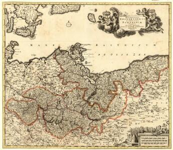 Marchionatus Brandenburgi et Ducatus Pomeraniae Tabula Quae est pars Septentrionalis Circuli Saxoniae Superioris