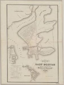 Plan of East Boston : shewing the location of a mill dam and other improvements