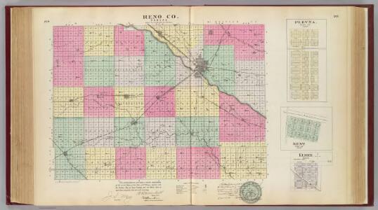 Reno Co. & Plevna, Kent, Elmer, Kansas.