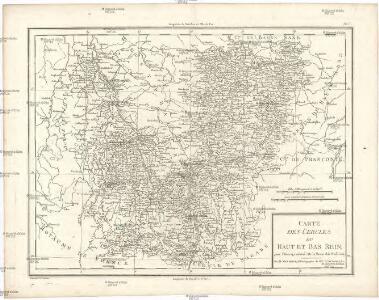 Carte des cercles du Haut et Bas Rhin